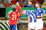 Spain's Alvaro Morata celebrates goal during FIFA World Cup 2018 Qualifying Round match. September 5,2016.(ALTERPHOTOS/Acero)