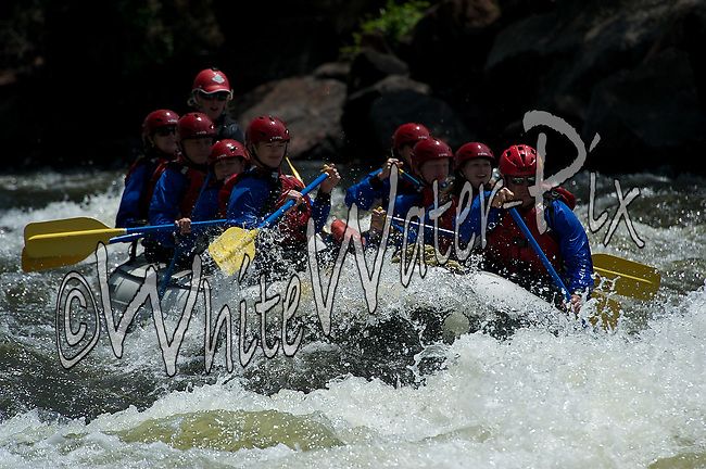 Timberline Tours crashing Interstate, Dead Cow and Rodeo Rapids while running the Lower Eagle River, June, 19, 2013, Morning Trip, AM, Eagle, Colorado - WhiteWater-Pix | River Adventure Photography - by MADOGRAPHER Doug Mayhew