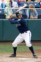 August 7, 2007: Catcher Craig Hurba of the Everett AquaSox batting in a Northwest League game at Everett Memorial Stadium in Everett, Washington.
