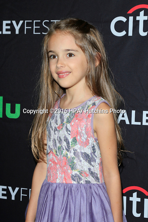 LOS ANGELES - SEP 10:  Julia Butters at the PaleyFest 2016 Fall TV Preview - ABC at the Paley Center For Media on September 10, 2016 in Beverly Hills, CA