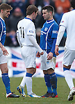 David Templeton and Dean Cowie square up