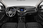 Stock photo of straight dashboard view of 2018 Hyundai Tucson SE 5 Door Suv Dashboard