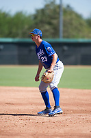 Kansas City Royals first baseman Travis Jones (23) during an Instructional League game against the Chicago White Sox at Camelback Ranch on September 25, 2018 in Glendale, Arizona. (Zachary Lucy/Four Seam Images)