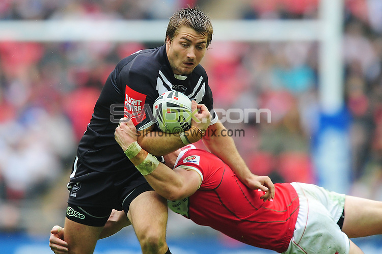PICTURE BY ALEX BROADWAY/SWPIX.COM - Rugby League - Gillette 4 Nations 2011 - Wales v New Zealand - Wembley Stadium, London, England - 5/11/11 - Kieran Foran of New Zealand.