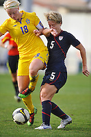 USA's Lori Lindsey in a game vs Sweden in 2010 Algarve Cup game in Ferreiras, Portugal.
