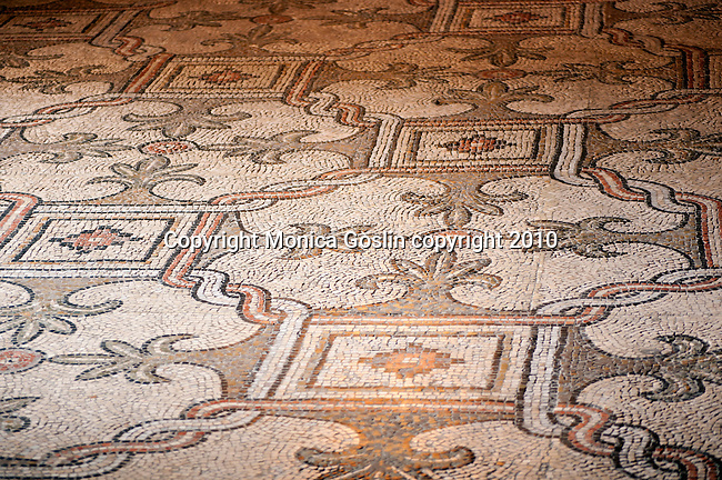 Mosaics on the floor of the Basilica of San Vitale in Ravenna, Italy.