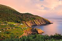 Sunset on Cape Breton Island. <br /> <br /> Meat Cove<br /> Nova Scotia<br /> Canada