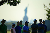 Crowds watching the play with the Statue of Liberty in the background during the second round of The Northern Trust, Liberty National Golf Club, Jersey City, New Jersey, USA. 09/08/2019.<br /> Picture Michael Cohen / Golffile.ie<br /> <br /> All photo usage must carry mandatory copyright credit (© Golffile | Michael Cohen)