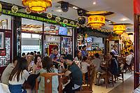 Suzhou, Jiangsu, China.  Interior of Tong De Xin Noodle Restaurant.