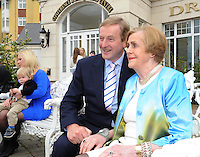 Taoiseach Enda Kenny with  with Kay Randles when he launched the 50th anniversary celebrations of the Dromhall Hotel in Killarney on Friday.  Picture: Eamonn Keogh (MacMonagle, Killarney)