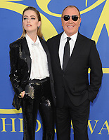 BROOKLYN, NY - JUNE 4: Amber Heard and Michael Kors at the 2018 CFDA Fashion Awards at the Brooklyn Museum in New York City on June 4, 2018. <br /> CAP/MPI/PAL<br /> &copy;PAL/MPI/Capital Pictures