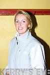 Mary Brick (club Secretary).....................at  the Kilmoyley team press night ahead of the County Hurling Final