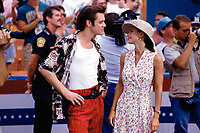 Ace Ventura: Pet Detective (1994) <br /> Jim Carrey &amp; Courteney Cox<br /> *Filmstill - Editorial Use Only*<br /> CAP/KFS<br /> Image supplied by Capital Pictures