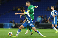 7th November 2019; RCDE Stadium, Barcelona, Catalonia, Spain; UEFA Europa League Football, Real Club Deportiu Espanyol de Barcelona versus PFC Ludogorets Razgrad; Granero holds off his defender - Editorial Use