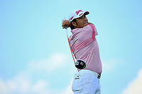 Hideki Matsuyama (JPN) during the first round of  The Northern Trust, Liberty National Golf Club, Jersey City, New Jersey, USA. 08/08/2019.<br /> Picture Michael Cohen / Golffile.ie<br /> <br /> All photo usage must carry mandatory copyright credit (© Golffile | Michael Cohen)