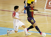 Caja Segovia's Borja Diaz (l) and FC Barcelona Alusport's Wilde Gomes during Spanish National Futsal League match.November 24,2012. (ALTERPHOTOS/Acero) /NortePhoto