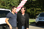 Guiding Light's actors Daniel Cosgrove & Frank Dicopoulos on October 1, 2009 in Pittsburgh, PA area as the actors visit Moon Township Honda after going to the various GO PINK Panera Bread locations. Proceeds from pink ribbon bagel sales will benefit the Young Women's Breast Cancer Awareness Foundation. (Photo by Sue Coflin/Max Photos)
