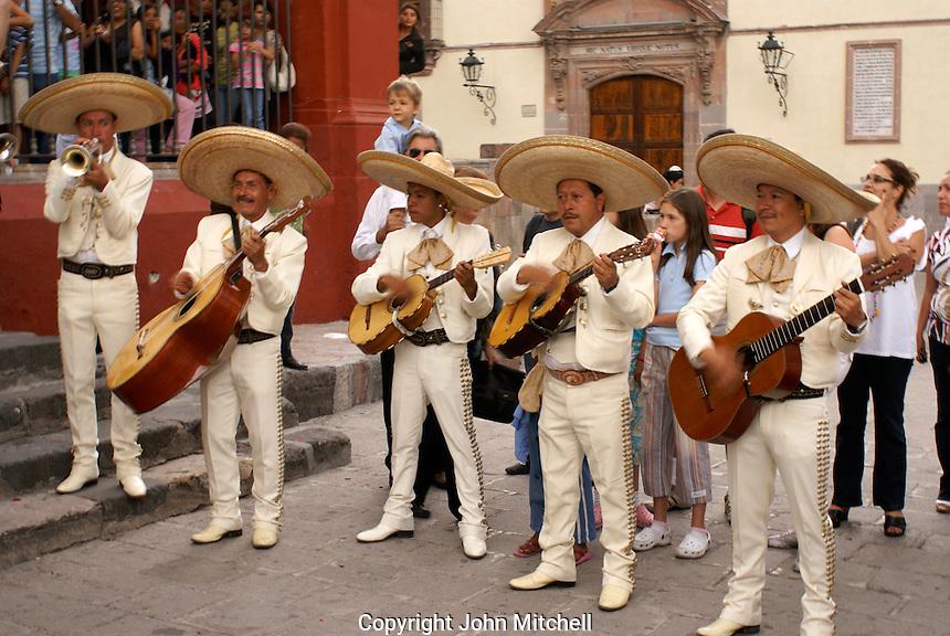 Mariachis peforming at a Mexican wedding in San Miguel de Allende, Mexico