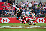 Kenya vs Portugal during the HSBC Sevens Wold Series Shield Semi Finals match as part of the Cathay Pacific / HSBC Hong Kong Sevens at the Hong Kong Stadium on 29 March 2015 in Hong Kong, China. Photo by Xaume Olleros / Power Sport Images
