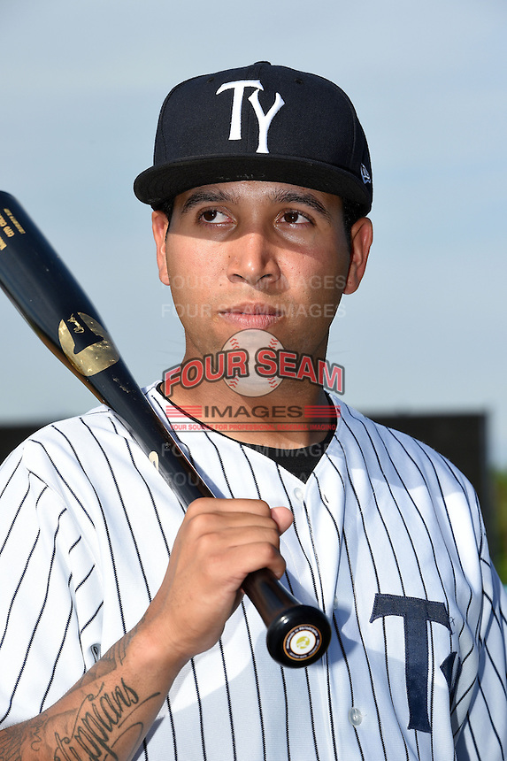Tampa Yankees shortstop Cito Culver (2) poses for a photo on April 14, 2014 at George M. Steinbrenner Field in Tampa, Florida.  (Mike Janes/Four Seam Images)