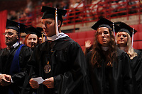 NWA Democrat-Gazette/ANDY SHUPE<br /> Saturday, May 13, 2017, during commencement exercises in Bud Walton Arena in Fayetteville. Visit nwadg.com/photos to see more photographs from the ceremony.