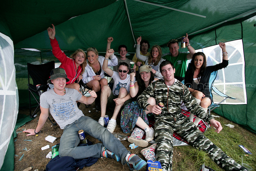 3/9/10 Fans from Dublin at the Electric Picnic in Stradbally in Laois. Picture:Arthur Carron/Collins