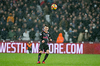 Laurent Koscielny of Arsenal during the Premier League match between West Ham United and Arsenal at the Olympic Park, London, England on 13 December 2017. Photo by Andy Rowland.