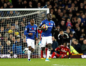5th November 2017, Goodison Park, Liverpool, England; EPL Premier League Football, Everton versus Watford; Oumar Niasse of Everton carries the ball back to the centre circle after scoring the first Everton goal after 67 minutes