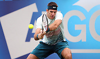 11.06.13 London, England. Juan Martin Del Potro in action against Xavier Malisse during the The Aegon Championships from the The QueenÕs Club in West Kensington.