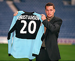 Danish goalkeeper Jesper Christiansen signs for Rangers in 2000