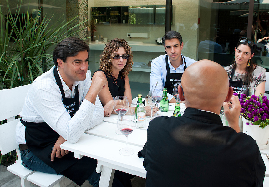 Piacere/The Cooking Club class with famed italian designer Paolo Piva.  Av. Reforma, Mexico City