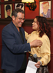 Michael Grief and Daphne Rubin-Vega attend the Michael Grief Sardi's Portrait Unveiling at Sardi's on 4/27/2017 in New York City.