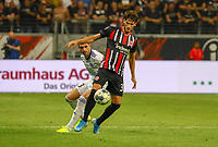 Goncalo Paciencia (Eintracht Frankfurt) gegen Stefan Mitrovic (Racing Club de Strasbourg Alsace) - 29.08.2019: Eintracht Frankfurt vs. Racing Straßburg, UEFA Europa League, Qualifikation, Commerzbank Arena<br /> DISCLAIMER: DFL regulations prohibit any use of photographs as image sequences and/or quasi-video.