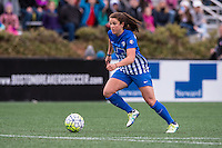 Allston, MA - Sunday, May 1, 2016:  Boston Breakers forward Stephanie McCaffrey (9) in a match against the Portland Thorns FC at Harvard University.