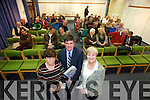 Speakers Kathleen Brown (Kerry Archaeological and Historical Society), Tim Horgan (Kerry Archaeological and Historical Society) and Author  Kerry Archaeological and Kathleen Hegarty Thorne at the Historical Society lecture and Book launch at the Kerry Library on Tuesday.