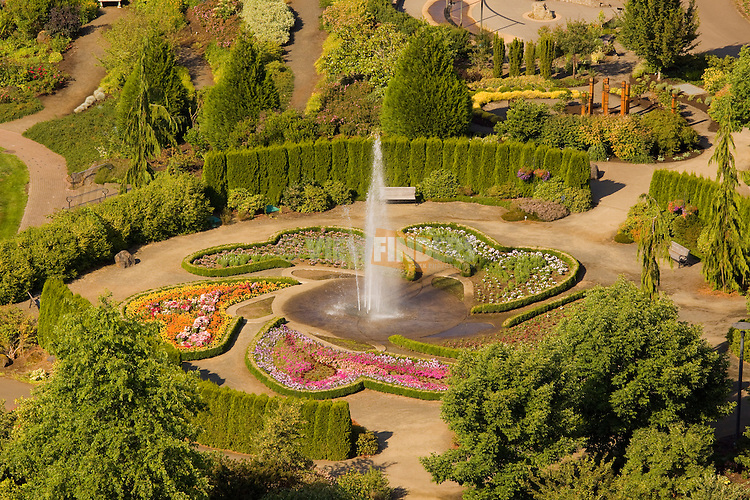 Aerial View of Oregon Garden, Silverton, Oregon