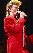 David Bowie - performing live on the Glass Spider Tour at Anaheim Stadium in Anaheim CA USA - Aug 8, 1987.   Photo Credit : David Plastik/Iconicpix
