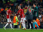 Wayne Rooney of Manchester United replaces Jesse Lingard of Manchester United during the Europa League Semi Final 2nd Leg match at Old Trafford Stadium, Manchester. Picture date: May 11th 2017. Pic credit should read: Simon Bellis/Sportimage