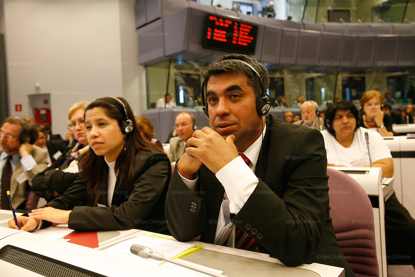 Asmet Elevoski, diplomat and representative from Macedonia, Les Roms European Summit Bruxelles..Nigel Dickinson..0612133170..nigeldickinson@mac.com