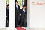 King Felipe VI of Spain attends to the delivery of the Camino Real Award to spanish actor Antonio Banderas at Alcala de Henares in Madrid, April 26, 2017. Spain.<br /> (ALTERPHOTOS/BorjaB.Hojas)
