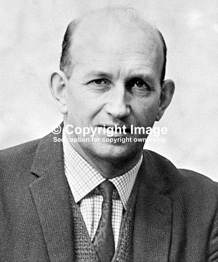Chief Supt Frank Lagan, commander, N Division, Londonderry RUC, N Ireland. RUC officer in charge on Bloody Sunday.  Ref: 19710101001 (Linenhall 359/71)...Copyright Image from Victor Patterson, 54 Dorchester Park, Belfast, UK, BT9 6RJ..Tel: +44 28 9066 1296.Mob: +44 7802 353836.Voicemail +44 20 8816 7153.Skype: victorpattersonbelfast.Email: victorpatterson@mac.com.Email: victorpatterson@ireland.com (back-up)..IMPORTANT: If you wish to use this image or any other of my images please go to www.victorpatterson.com and click on the Terms & Conditions. Then contact me by email or phone with the reference number(s) of the image(s) concerned.