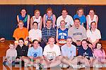 SQUAD: Mustang's basketball squad are front l-r: Jack O'Neill, Amy Galway, Megan Buckley, Roisin Lucey, Laura Moloney, Sinead Cronin and Michaela Buckley. Middle l-r: Mairead Finnegan, Cassandra Buckley, James Fleming, Emer Buckley (Captain), Simon O'Shea and Mags Cronin. Back l-r: Muiri?osa Galwey, Lynn Jones, Carolyn O'Mahony, Sinead O'Connell, Anna Banaszenska and Marian O'Callaghan.   Copyright Kerry's Eye 2008