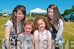 ENJOYING: Having a great time at the Bee For Battens Family Fun Day at the community field, Castlmaine on Sunday l-r: Chloe, Loren and Kayla O'Connor and Niamh Tangney, Scartaglin.