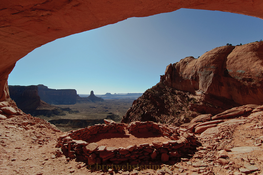 "The ""False"" Kiva Class II archaeological site in Canyonlands National Park."