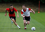 John Fleck of Sheffield Utd and Nathan Thomas during the training session at the Shirecliffe Training complex, Sheffield. Picture date: June 27th 2017. Pic credit should read: Simon Bellis/Sportimage