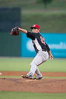 Hickory Crawdads starting pitcher Cody Buckel (22) in action against the Kannapolis Intimidators at CMC-Northeast Stadium on May 21, 2015 in Kannapolis, North Carolina.  The Intimidators defeated the Crawdads 2-0 in game two of a double-header.  (Brian Westerholt/Four Seam Images)