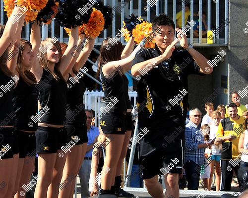 2010-06-24 / Voetbal / seizoen 2010-2011 / Fandag Lierse SK / Eiji Kawashima werd aan het Lierse publiek voorgesteld..Foto: mpics