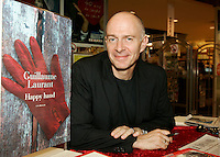 Guillaume Laurant, writer, scenarist and member of the 2006 Jury  at Montreal World Film Festival (Festival des Films du Monde de Montreal) <br /> sign copies of his lates book  HAPPY HAND, August 30 2006 on the site of the Festival.<br /> He wrote the scenario of LE FABULEUX DESTIN D AMELIE POULIN directed by French film maker Jean-Pierre Jeunet.<br /> on the opening night, August 24 2006<br /> <br /> Best remembered for her terrifying portrayal of obsessed fan Annie Wilkes in Misery, Bates held up a stellar career after that Oscar-winning performance with films like Titanic, Fried Green Tomatoes and the highly acclaimed new release, About Schmidt.<br /> <br /> Photo by Pierre Roussel / Images Distribution