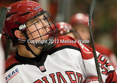 Brian Hart (Harvard - 39) - The Yale University Bulldogs defeated the Harvard University Crimson 5-1 on Saturday, November 3, 2012, at Bright Hockey Center in Boston, Massachusetts.