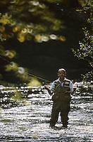 Europe/France/Limousin/19/Corrèze : Pêche à la truite au fouet sur la Corrèze [Autorisation : A12]